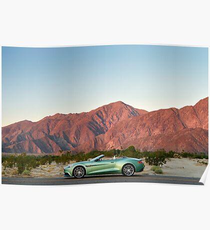 Aston Martin Vanquish Volante - Shot on Location in Berrago Springs. Poster
