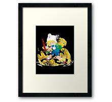 Little Big Heroes Adventure Time Framed Print