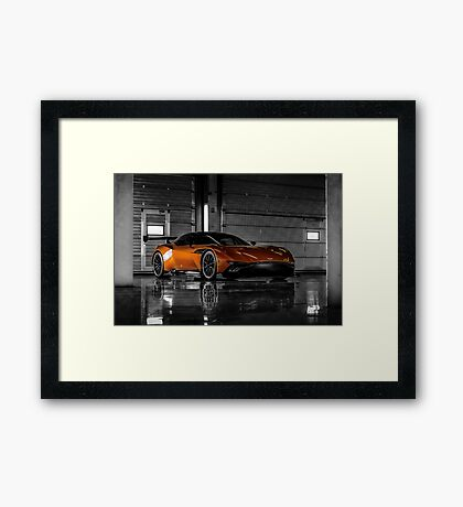 Aston Martin Vulcan - Shot on Location at the Silverstone F1 Circuit Framed Print