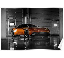 Aston Martin Vulcan - Shot on Location at the Silverstone F1 Circuit Poster