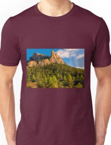 Rock face and trees  Unisex T-Shirt