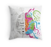 Creative Brain Chemistry Throw Pillow