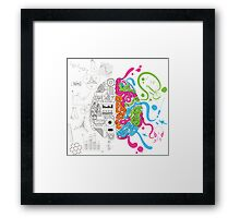 Creative Brain Chemistry Framed Print