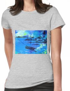 Blue Dream 2 Womens Fitted T-Shirt