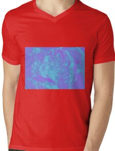 Abstract colorful watercolor illustration with paint strokes and swirls. Mens V-Neck T-Shirt