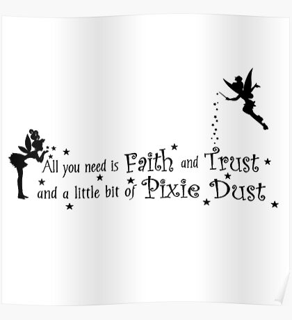 Tinker Bell Pixie Dust Poster