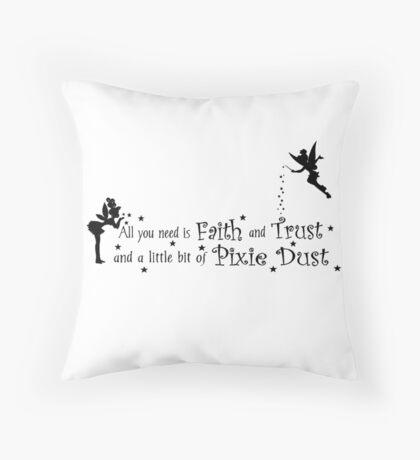 Tinker Bell Pixie Dust Throw Pillow