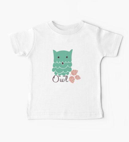 Cute cartoon owls Baby Tee