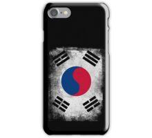 South Korea Flag Proud Korean Vintage Distressed Shirt iPhone Case/Skin