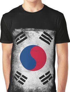 South Korea Flag Proud Korean Vintage Distressed Shirt Graphic T-Shirt
