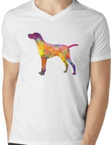 Hungarian Shorthaired Pointer in watercolor Mens V-Neck T-Shirt
