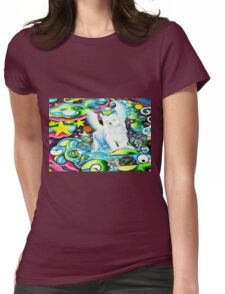 Angel Dog Buddy Womens Fitted T-Shirt