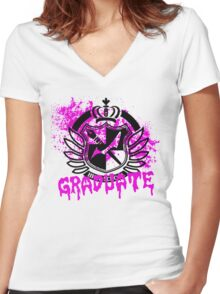 DanganRonpa - Graduate of Hope's Peak Women's Fitted V-Neck T-Shirt