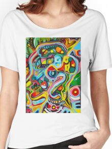 ABSTRACT STYLE ORIGINAL ART Women's Relaxed Fit T-Shirt