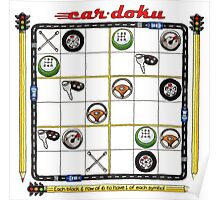 Cardoku - puzzled? Poster