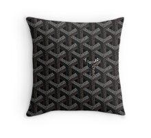 Goyard black Throw Pillow