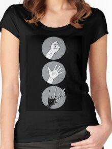 Rock, Paper, Scissor....hands Women's Fitted Scoop T-Shirt