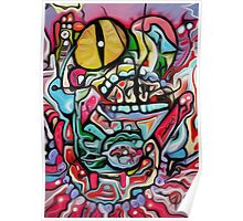 Abstract Gobbler Original art By Jose Juarez Poster