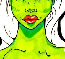 Neon Melting Zombie Girl  Sticker