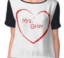 Mrs Grier - red Chiffon Top