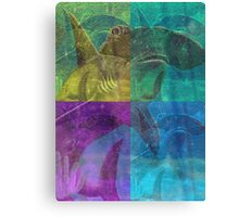 Beautiful Colorful Hammerhead Shark Painting  Canvas Print