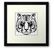 Tiger Head Framed Print