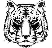 Tiger Head Photographic Print