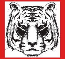 Tiger Head Kids Clothes
