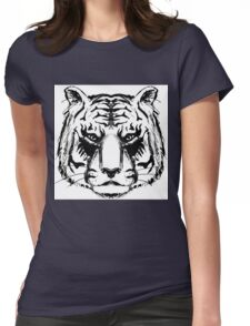 Tiger Head Womens Fitted T-Shirt