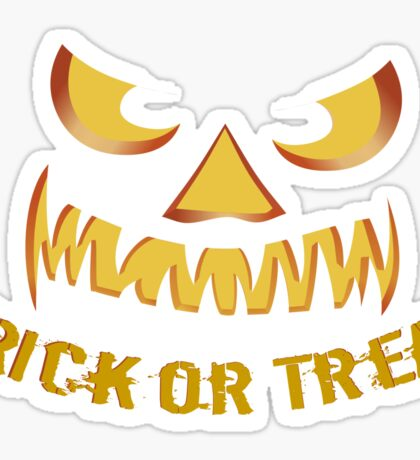 Trick or Treat with Pumpkin Face Sticker