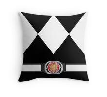 MMPR Black Ranger Uniform Throw Pillow Throw Pillow