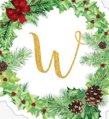 Christmas Monogram W Sticker