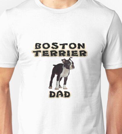 Boston Terrier Dad Father Unisex T-Shirt