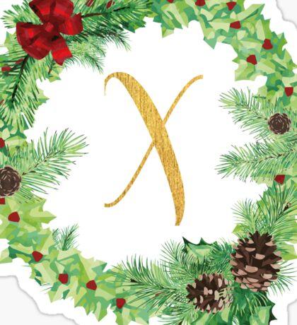 Christmas Monogram X Sticker