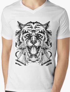 Weretiger Mens V-Neck T-Shirt