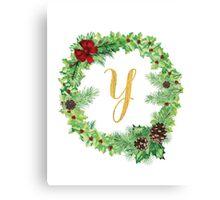 Christmas Monogram Y Canvas Print