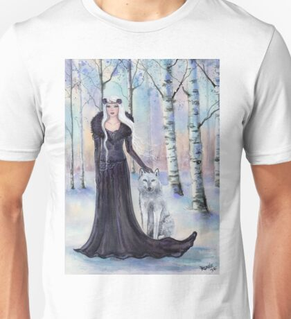 """""""Eindride"""" fantasy woman with wolf by Renee L Lavoie Unisex T-Shirt"""