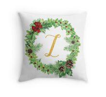 Christmas Monogram Z Throw Pillow