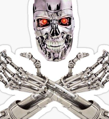 Terminator Skull and Crossbones Sticker