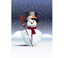 Snowman for Xmas Photographic Print