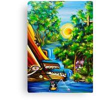 fishing kittens / cat fantasy by JOSE JUAREZ !! Canvas Print