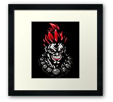 Akuma Street Fighter Devil Gouki Framed Print