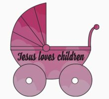 Jesus loves children  One Piece - Short Sleeve