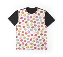 Colorful donuts with sprinkles seamless pattern. Graphic T-Shirt