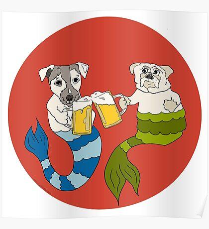 Beer Buddy Mermutts Poster