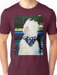 Out the Window Dog Painting Unisex T-Shirt