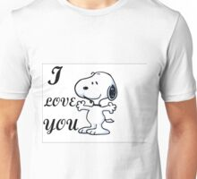 SNOOPY I LOVE YOU Unisex T-Shirt