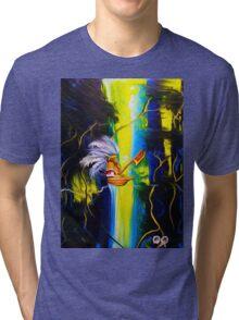 Aztec Traveler Original Indian Art by JOSE JUAREZ!! Tri-blend T-Shirt