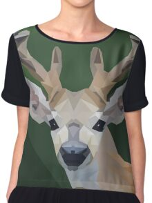Minimalist Deer- King of the Forest Chiffon Top