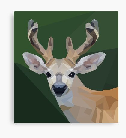 Minimalist Deer- King of the Forest Canvas Print